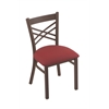 "Holland Bar Stool Co. 620 Catalina 18"" Chair with Bronze Finish, Allante Wine Seat"