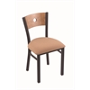 "630 Voltaire 18"" Chair with Black Wrinkle Finish, Axis Summer Seat, and Medium Maple Back"