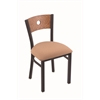 "Holland Bar Stool Co. 630 Voltaire 18"" Chair with Black Wrinkle Finish, Axis Summer Seat, and Medium Oak Back"