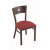 "630 Voltaire 18"" Chair with Bronze Finish, Allante Wine Seat, and Dark Cherry Maple Back"