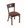 "Holland Bar Stool Co. 630 Voltaire 18"" Chair with Bronze Finish, Axis Paprika Seat, and Dark Cherry Maple Back"