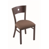 "Holland Bar Stool Co. 630 Voltaire 18"" Chair with Bronze Finish, Axis Willow Seat, and Dark Cherry Maple Back"