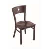 "Holland Bar Stool Co. 630 Voltaire 18"" Chair with Bronze Finish, Dark Cherry Maple Seat, and Dark Cherry Maple Back"