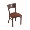 "630 Voltaire 18"" Chair with Bronze Finish, Rein Adobe Seat, and Dark Cherry Maple Back"