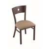 "Holland Bar Stool Co. 630 Voltaire 18"" Chair with Bronze Finish, Rein Thatch Seat, and Dark Cherry Maple Back"