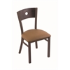 "Holland Bar Stool Co. 630 Voltaire 18"" Chair with Bronze Finish, Allante Beechwood Seat, and Dark Cherry Oak Back"