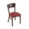 "630 Voltaire 18"" Chair with Bronze Finish, Allante Wine Seat, and Dark Cherry Oak Back"