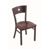 "Holland Bar Stool Co. 630 Voltaire 18"" Chair with Bronze Finish, Dark Cherry Oak Seat, and Dark Cherry Oak Back"