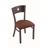 "630 Voltaire 18"" Chair with Bronze Finish, Rein Adobe Seat, and Dark Cherry Oak Back"