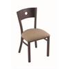"630 Voltaire 18"" Chair with Bronze Finish, Rein Thatch Seat, and Dark Cherry Oak Back"