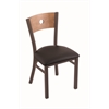 "Holland Bar Stool Co. 630 Voltaire 18"" Chair with Bronze Finish, Allante Espresso Seat, and Medium Maple Back"