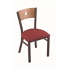 "Holland Bar Stool Co. 630 Voltaire 18"" Chair with Bronze Finish, Allante Wine Seat, and Medium Maple Back"