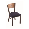 "Holland Bar Stool Co. 630 Voltaire 18"" Chair with Bronze Finish, Axis Denim Seat, and Medium Maple Back"