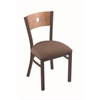 "Holland Bar Stool Co. 630 Voltaire 18"" Chair with Bronze Finish, Axis Willow Seat, and Medium Maple Back"
