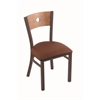 "630 Voltaire 18"" Chair with Bronze Finish, Rein Adobe Seat, and Medium Maple Back"