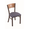 "Holland Bar Stool Co. 630 Voltaire 18"" Chair with Bronze Finish, Rein Bay Seat, and Medium Maple Back"