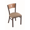 "630 Voltaire 18"" Chair with Bronze Finish, Rein Thatch Seat, and Medium Maple Back"