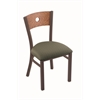 "630 Voltaire 18"" Chair with Bronze Finish, Axis Grove Seat, and Medium Oak Back"