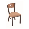 "Holland Bar Stool Co. 630 Voltaire 18"" Chair with Bronze Finish, Axis Summer Seat, and Medium Oak Back"