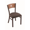 "630 Voltaire 18"" Chair with Bronze Finish, Axis Truffle Seat, and Medium Oak Back"