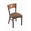 "630 Voltaire 18"" Chair with Bronze Finish, Axis Willow Seat, and Medium Oak Back"