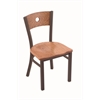 "630 Voltaire 18"" Chair with Bronze Finish, Medium Oak Seat, and Medium Oak Back"