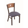 "630 Voltaire 18"" Chair with Bronze Finish, Rein Bay Seat, and Medium Oak Back"