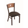 "630 Voltaire 18"" Chair with Bronze Finish, Rein Coffee Seat, and Medium Oak Back"