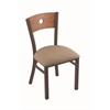 "630 Voltaire 18"" Chair with Bronze Finish, Rein Thatch Seat, and Medium Oak Back"
