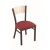 "Holland Bar Stool Co. 630 Voltaire 18"" Chair with Bronze Finish, Allante Wine Seat, and Natural Maple Back"