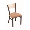 "Holland Bar Stool Co. 630 Voltaire 18"" Chair with Bronze Finish, Axis Summer Seat, and Natural Maple Back"