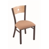 "Holland Bar Stool Co. 630 Voltaire 18"" Chair with Bronze Finish, Axis Summer Seat, and Natural Oak Back"