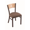 "630 Voltaire 18"" Chair with Bronze Finish, Axis Willow Seat, and Natural Oak Back"