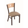 "Holland Bar Stool Co. 630 Voltaire 18"" Chair with Bronze Finish, Rein Thatch Seat, and Natural Oak Back"