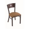 "630 Voltaire 18"" Chair with Pewter Finish, Allante Beechwood Seat, and Dark Cherry Maple Back"