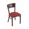 "630 Voltaire 18"" Chair with Pewter Finish, Allante Wine Seat, and Dark Cherry Maple Back"
