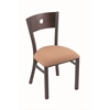 "Holland Bar Stool Co. 630 Voltaire 18"" Chair with Pewter Finish, Axis Summer Seat, and Dark Cherry Maple Back"