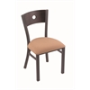 "630 Voltaire 18"" Chair with Pewter Finish, Axis Summer Seat, and Dark Cherry Oak Back"