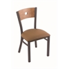 "Holland Bar Stool Co. 630 Voltaire 18"" Chair with Pewter Finish, Allante Beechwood Seat, and Medium Maple Back"