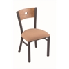 "Holland Bar Stool Co. 630 Voltaire 18"" Chair with Pewter Finish, Axis Summer Seat, and Medium Maple Back"