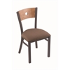 "630 Voltaire 18"" Chair with Pewter Finish, Axis Willow Seat, and Medium Maple Back"