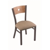 "Holland Bar Stool Co. 630 Voltaire 18"" Chair with Pewter Finish, Rein Thatch Seat, and Medium Maple Back"