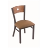 "Holland Bar Stool Co. 630 Voltaire 18"" Chair with Pewter Finish, Allante Beechwood Seat, and Medium Oak Back"