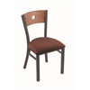 "Holland Bar Stool Co. 630 Voltaire 18"" Chair with Pewter Finish, Axis Paprika Seat, and Medium Oak Back"