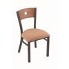 "630 Voltaire 18"" Chair with Pewter Finish, Axis Summer Seat, and Medium Oak Back"