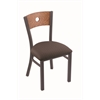 "630 Voltaire 18"" Chair with Pewter Finish, Axis Truffle Seat, and Medium Oak Back"
