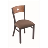 "Holland Bar Stool Co. 630 Voltaire 18"" Chair with Pewter Finish, Axis Willow Seat, and Medium Oak Back"