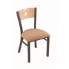 "630 Voltaire 18"" Chair with Pewter Finish, Axis Summer Seat, and Natural Oak Back"