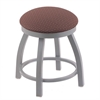 "802 Misha 18"" Vanity Stool with Anodized Nickel Finish, Axis Willow Seat, and 360 Swivel"