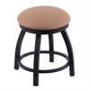 "Holland Bar Stool Co. 802 Misha 18"" Vanity Stool with Black Wrinkle Finish, Allante Beechwood Seat, and 360 Swivel"